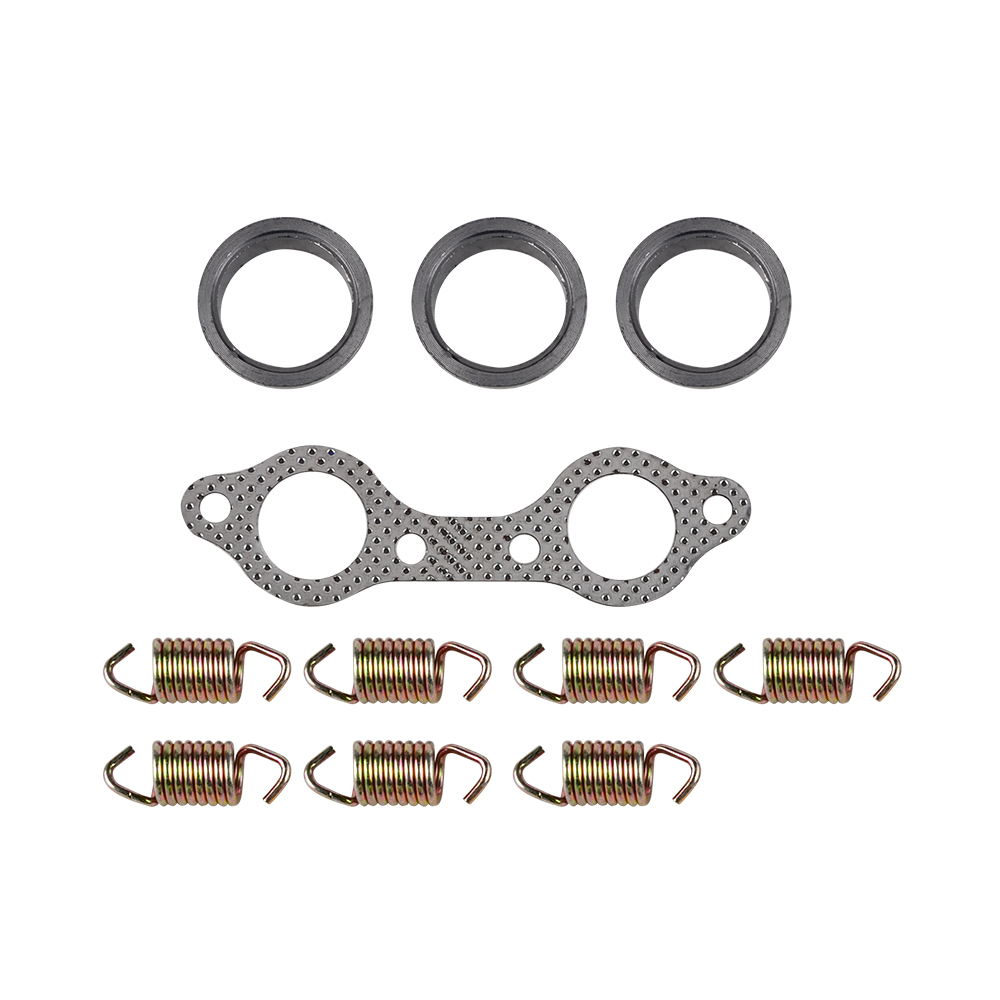Exhaust Pipe Gasket with 5 x Spring For Polaris Ranger 800 EFI Midsize EFI 13-14