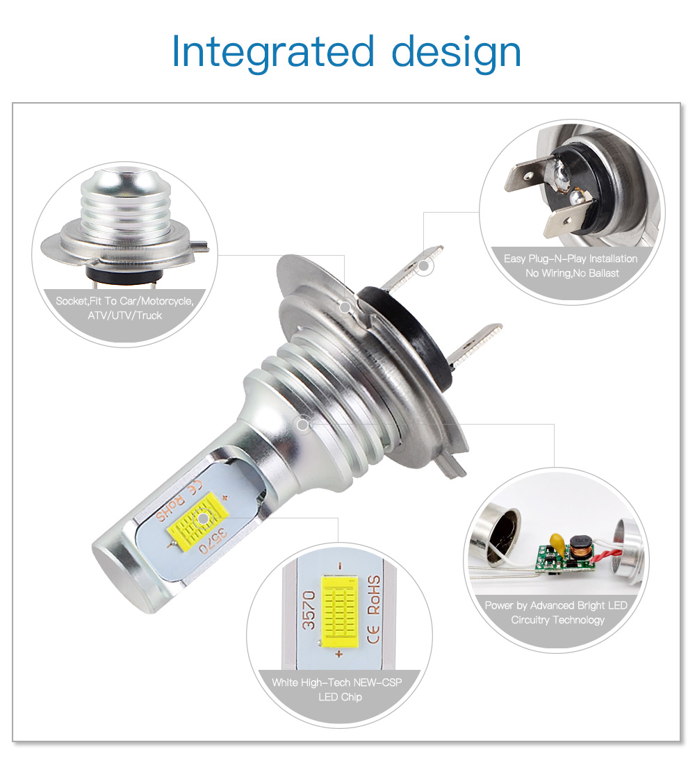 100w Led Headlight Bulbs Fits For Bmw R1200gs 2004 2017 R1200rt 2006 2014 Wiring Diagram H7 2016 3000lm