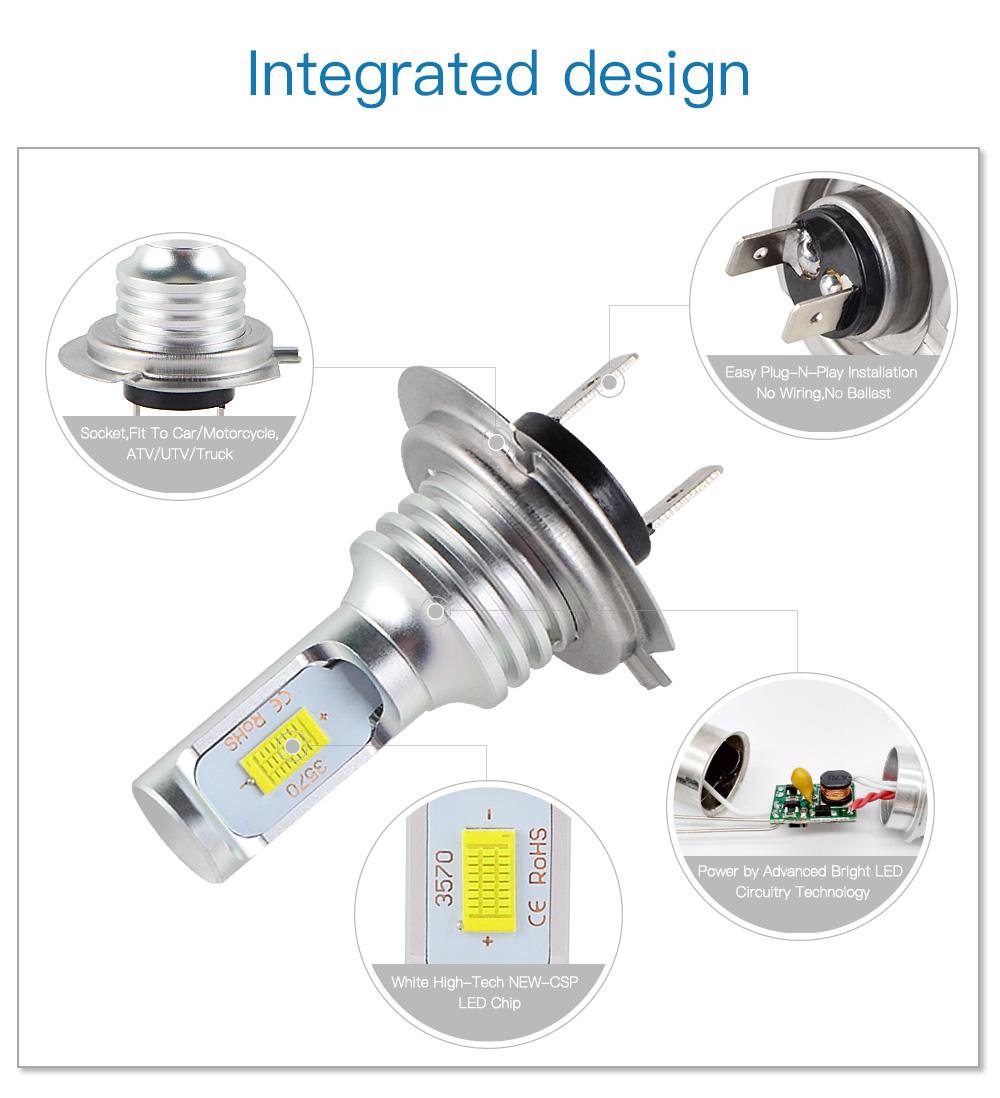 100w H7 Led Headlight Bulbs For Kawasaki Versys 650 2008 2016 Wiring Diagram Kle650c Kle650a