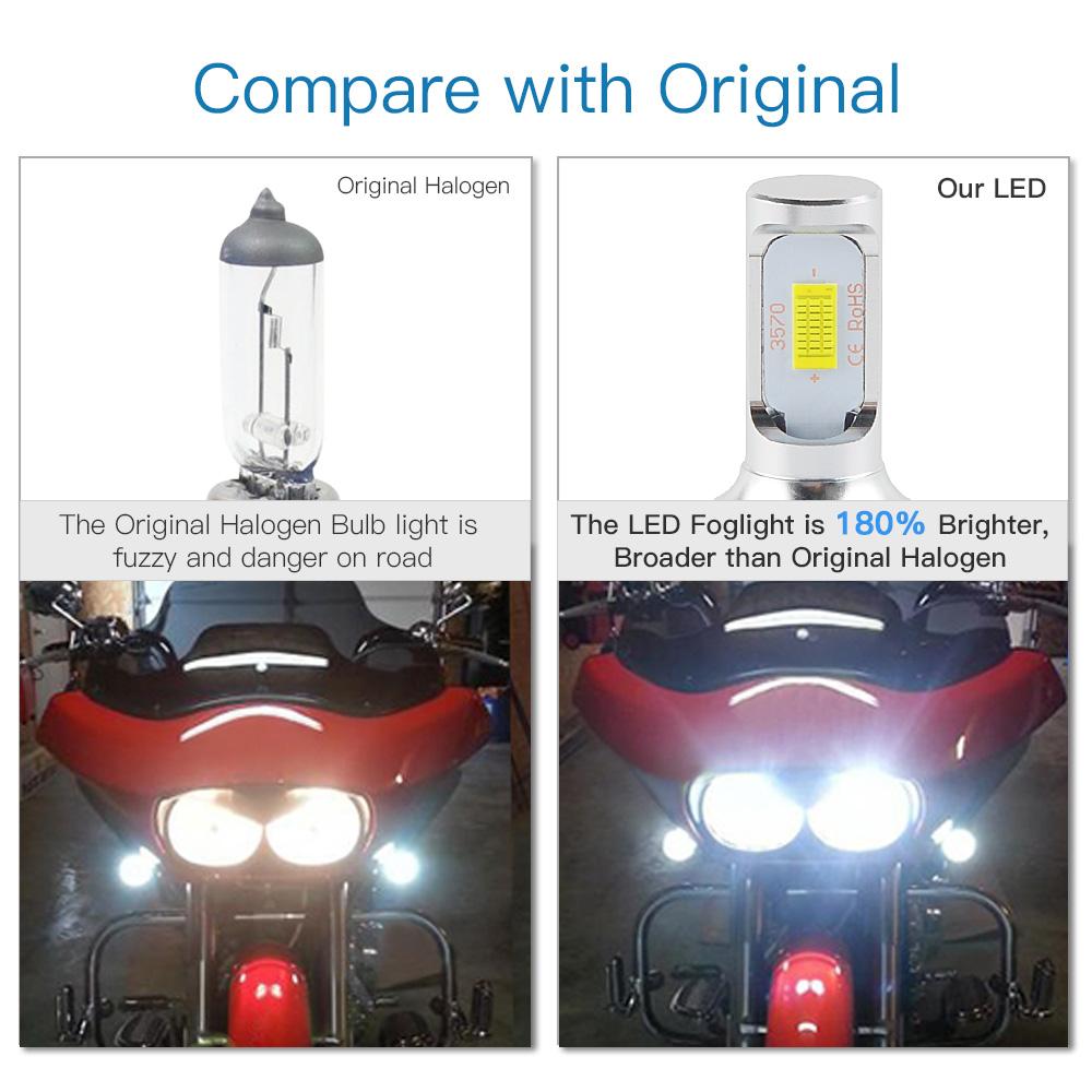 LED Headlight Light Bulbs for Yamaha Banshee 350 1988-2003 2004 2005 2006 100W