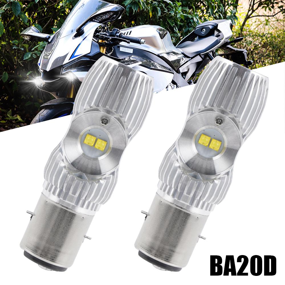 For Vespa ET2 ET4 2001 2002 2003 2004 2005 LED Headlight 2x Bulbs White 2000LM
