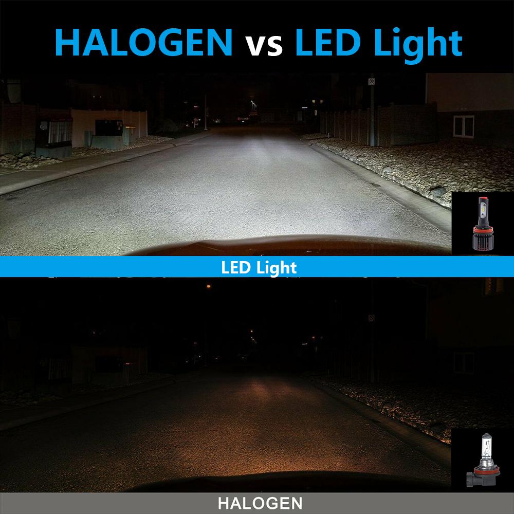 6x H11 9005 H8 LED Headlight Fog Light For Honda Pilot 06
