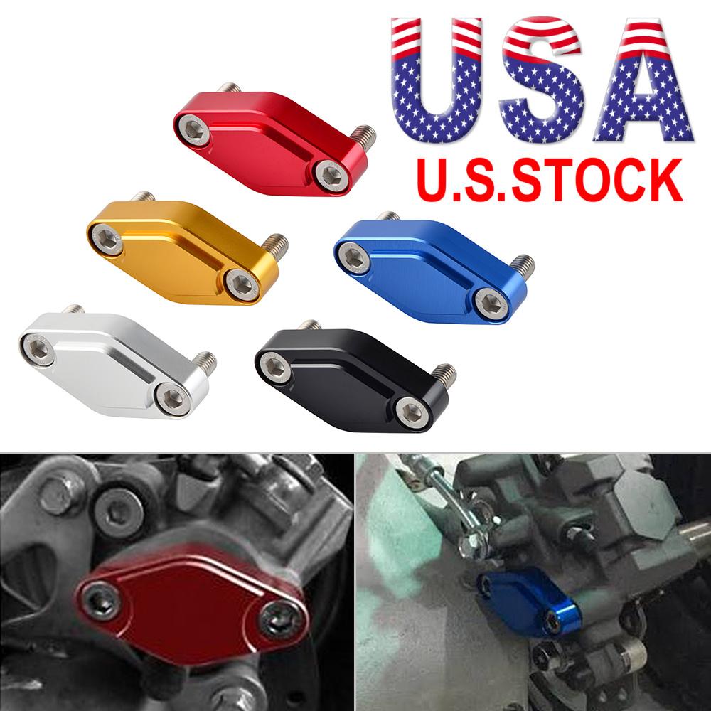 Billet CNC ATV Parking Brake Block Off Plate Red for Honda TRX250EX 2001-2008