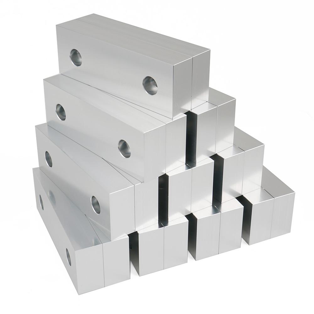 "10 PACK 6 x 2 x 2/"" Standard Aluminum Soft Jaws Set Fits Kurt 6/"" Vises Discount"