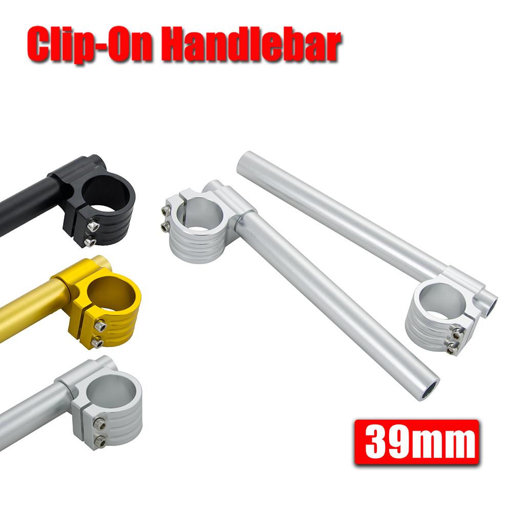 """Billet 1/"""" Bars 39mm Fork Clip-On Handlebar For Harley Dyna Low Rider Switchback"""